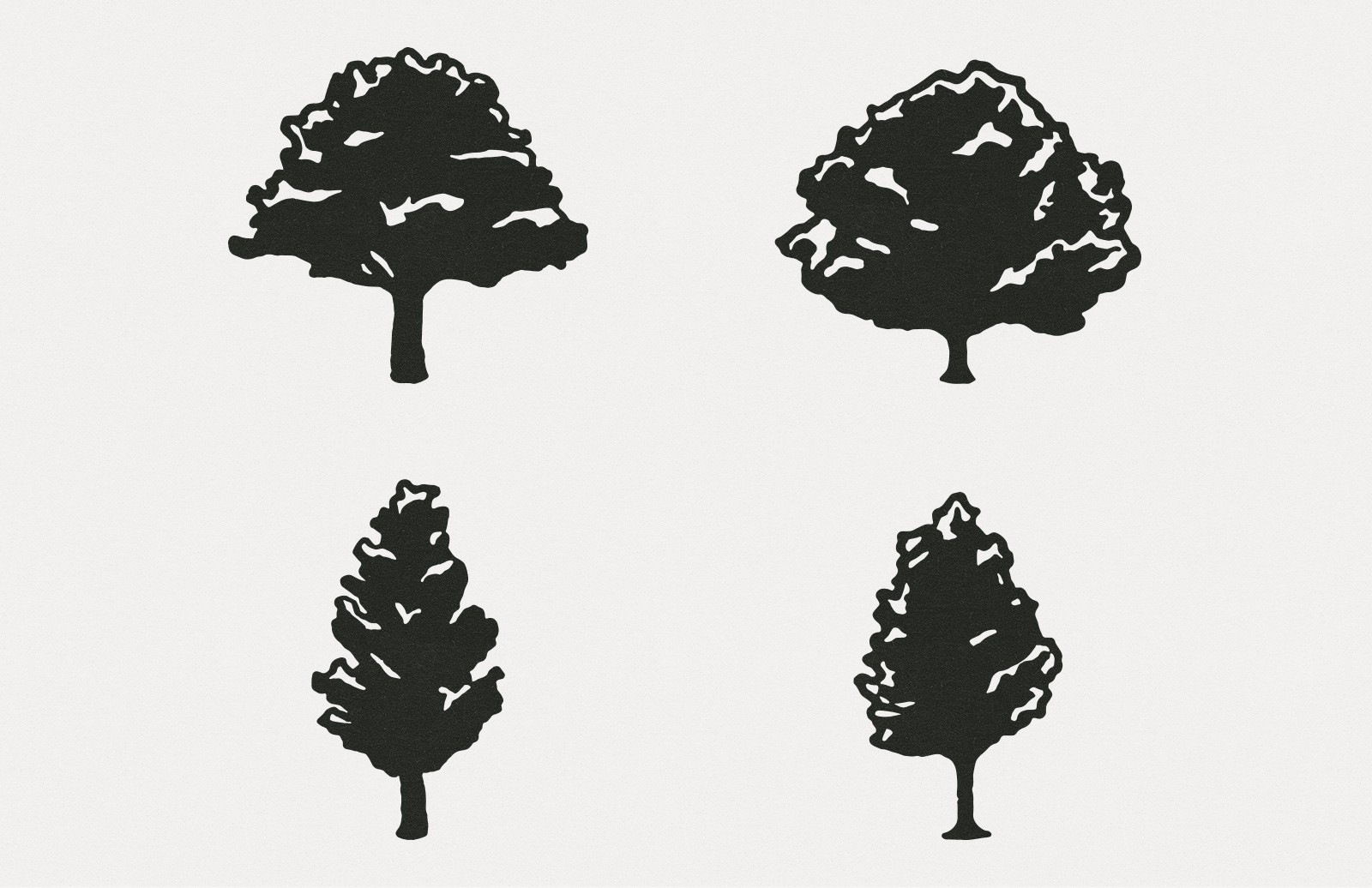 Large Hand Drawn Vector Trees Preview 3