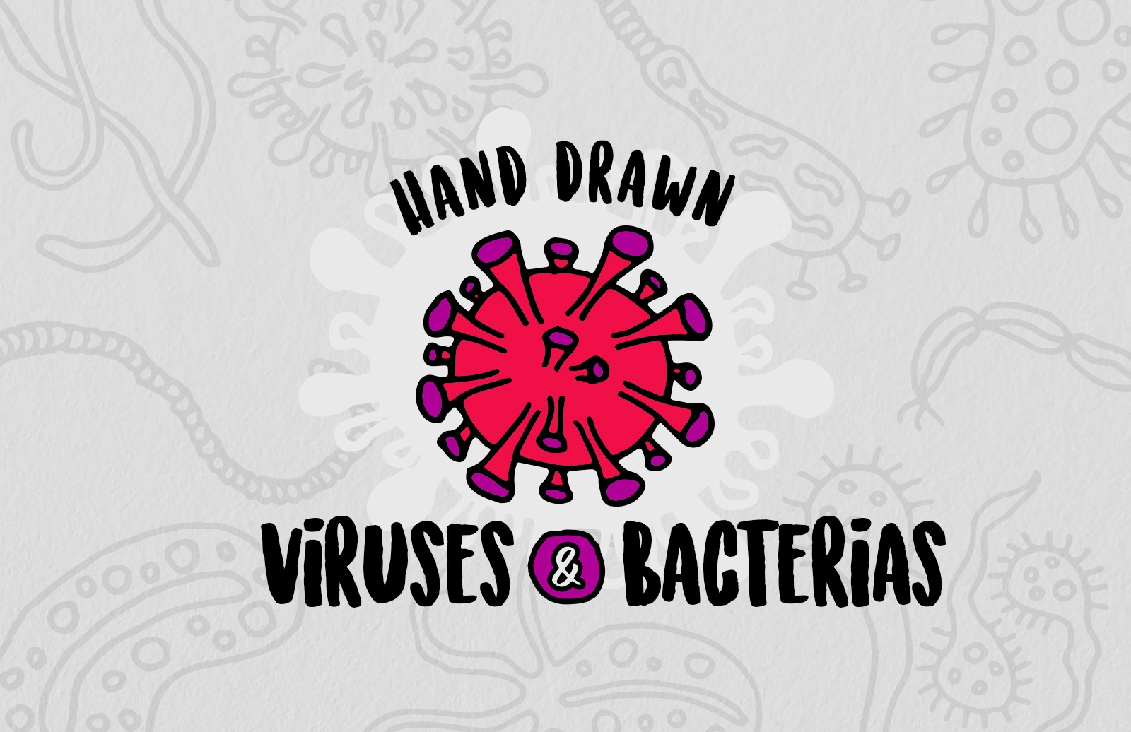 Hand Drawn Viruses And Bacterias Preview 1