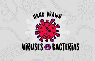 Free Hand Drawn Viruses and Bacterias