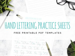 How to Get Started with Hand Lettering (Free Printable Worksheets ...