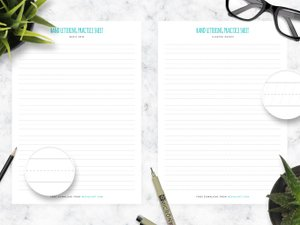 Free Hand Lettering Practice Sheets 2