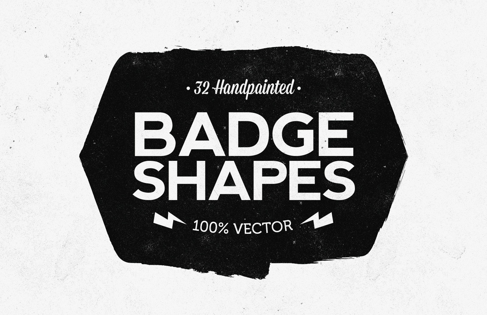 Hand Painted Vector Badge Shapes