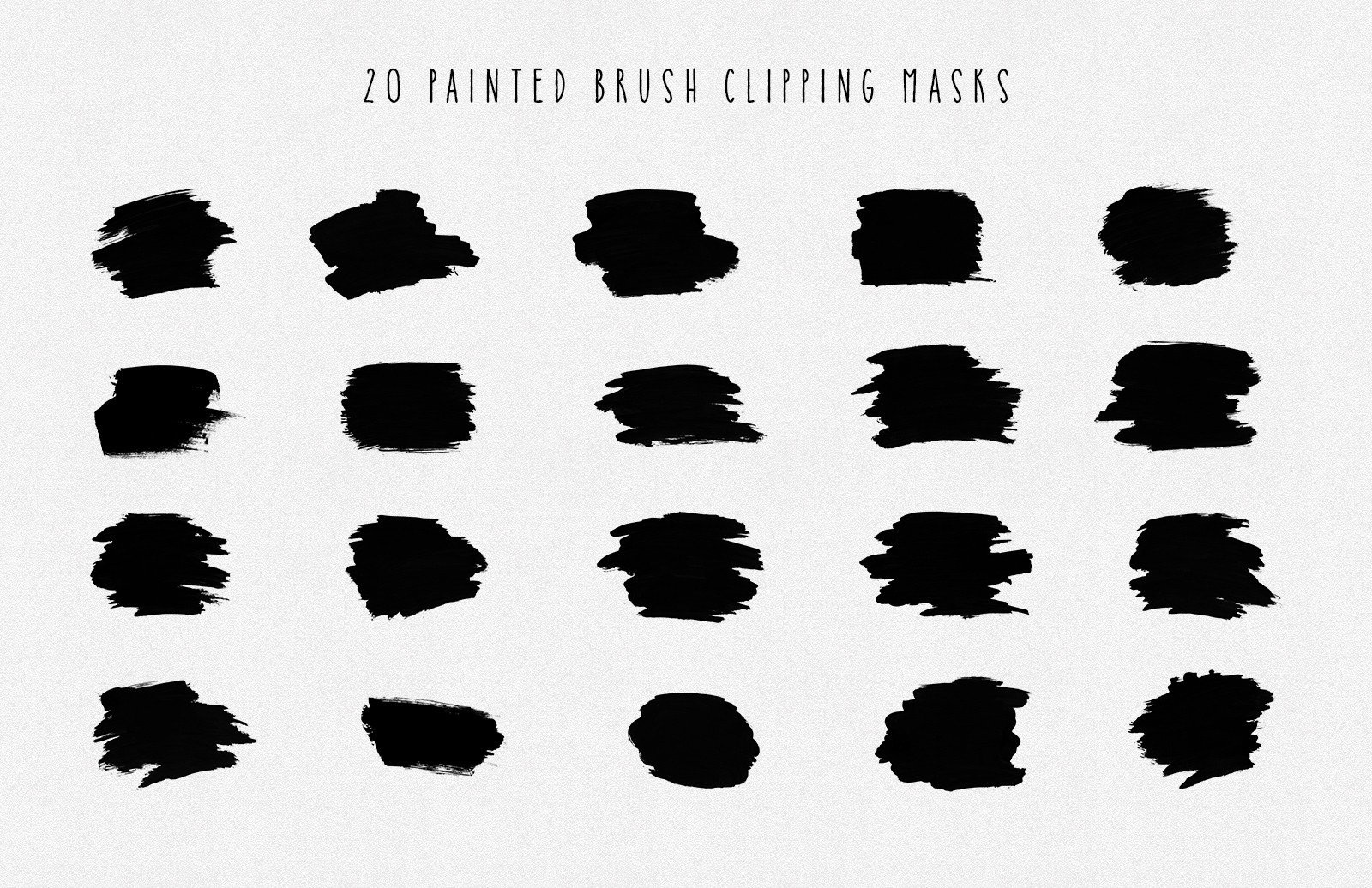 Large Hand  Painted  Brush  Clipping  Masks  Preview 5