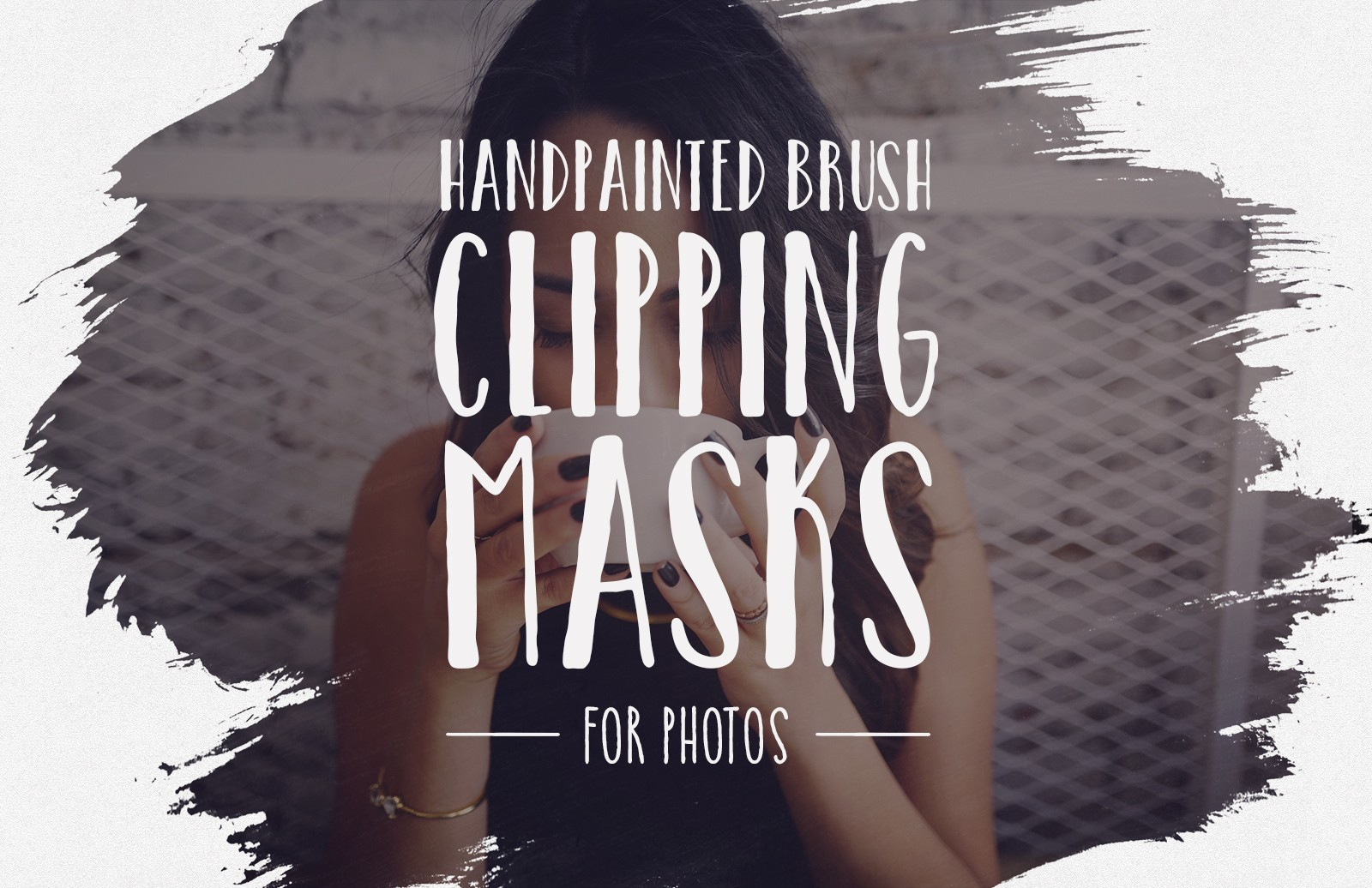 Hand Painted Brush Clipping Masks