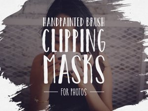 Hand Painted Brush Clipping Masks 1