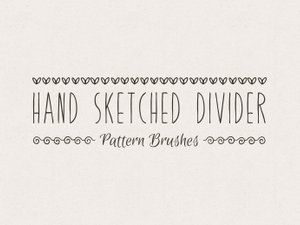 Hand Sketched Divider Pattern Brushes 1