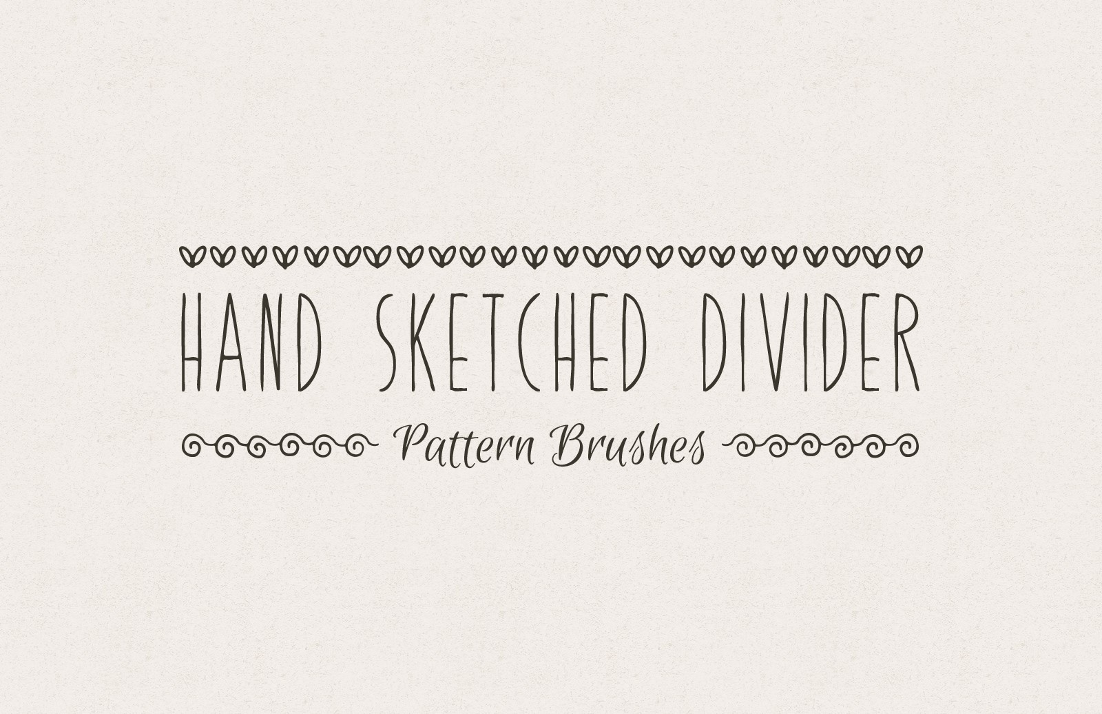 Hand Sketched Divider Pattern Brushes