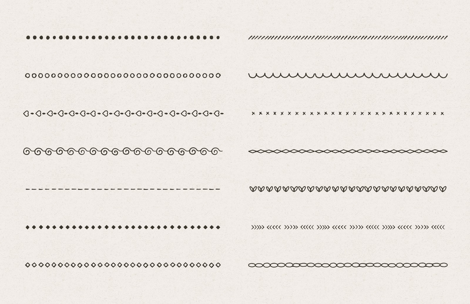 Hand Sketched Divider Pattern Brushes 2