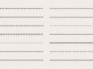 Hand Sketched Divider Pattern Brushes 2