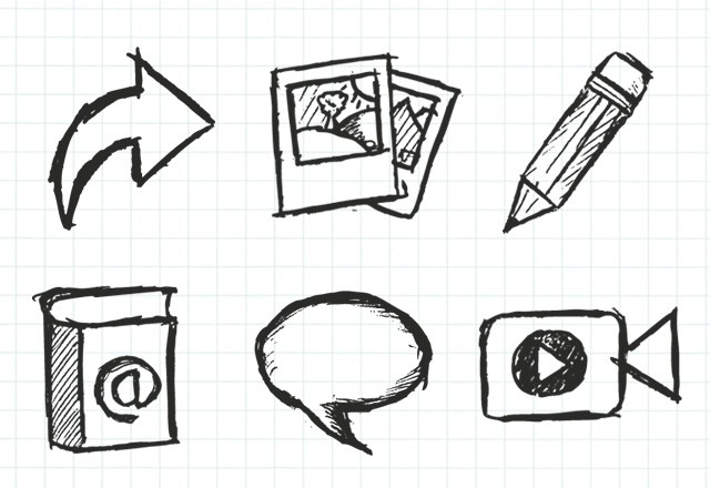 Sketchy Hand Drawn Icons