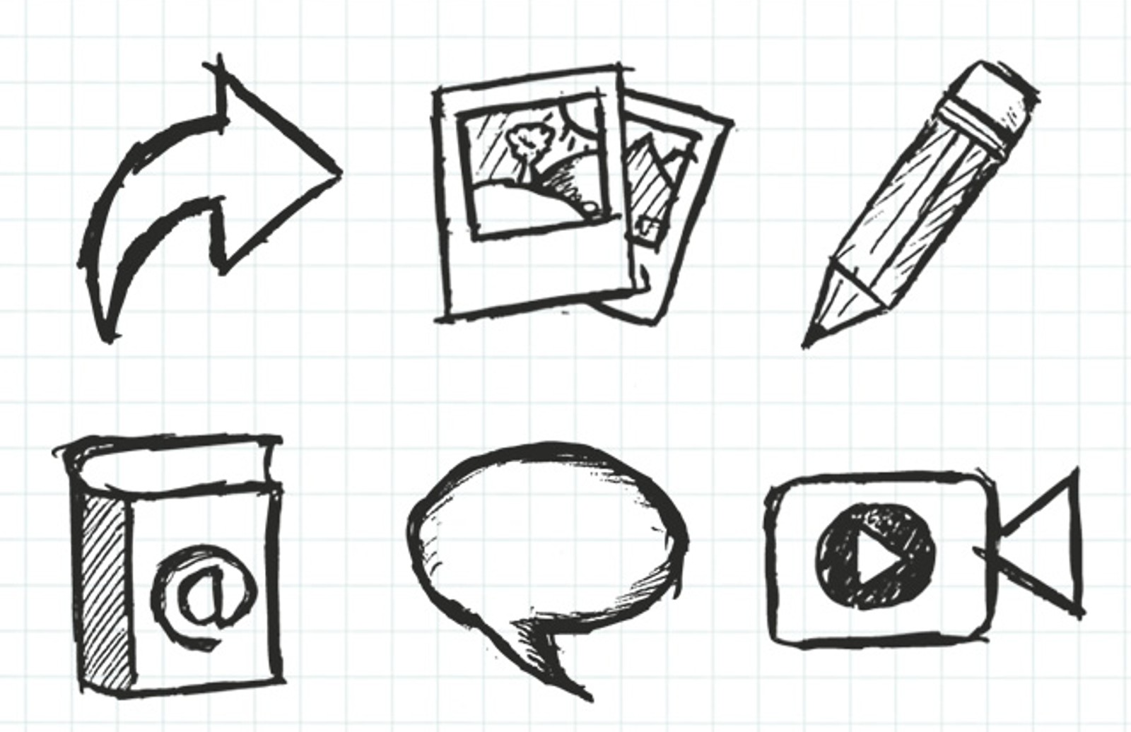 Hand  Drawn  Icons 1