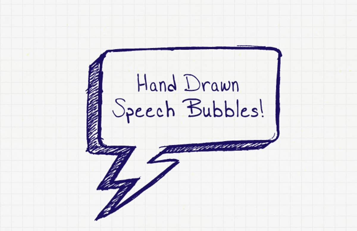 Hand  Drawn  Speech  Bubbles  Preview1