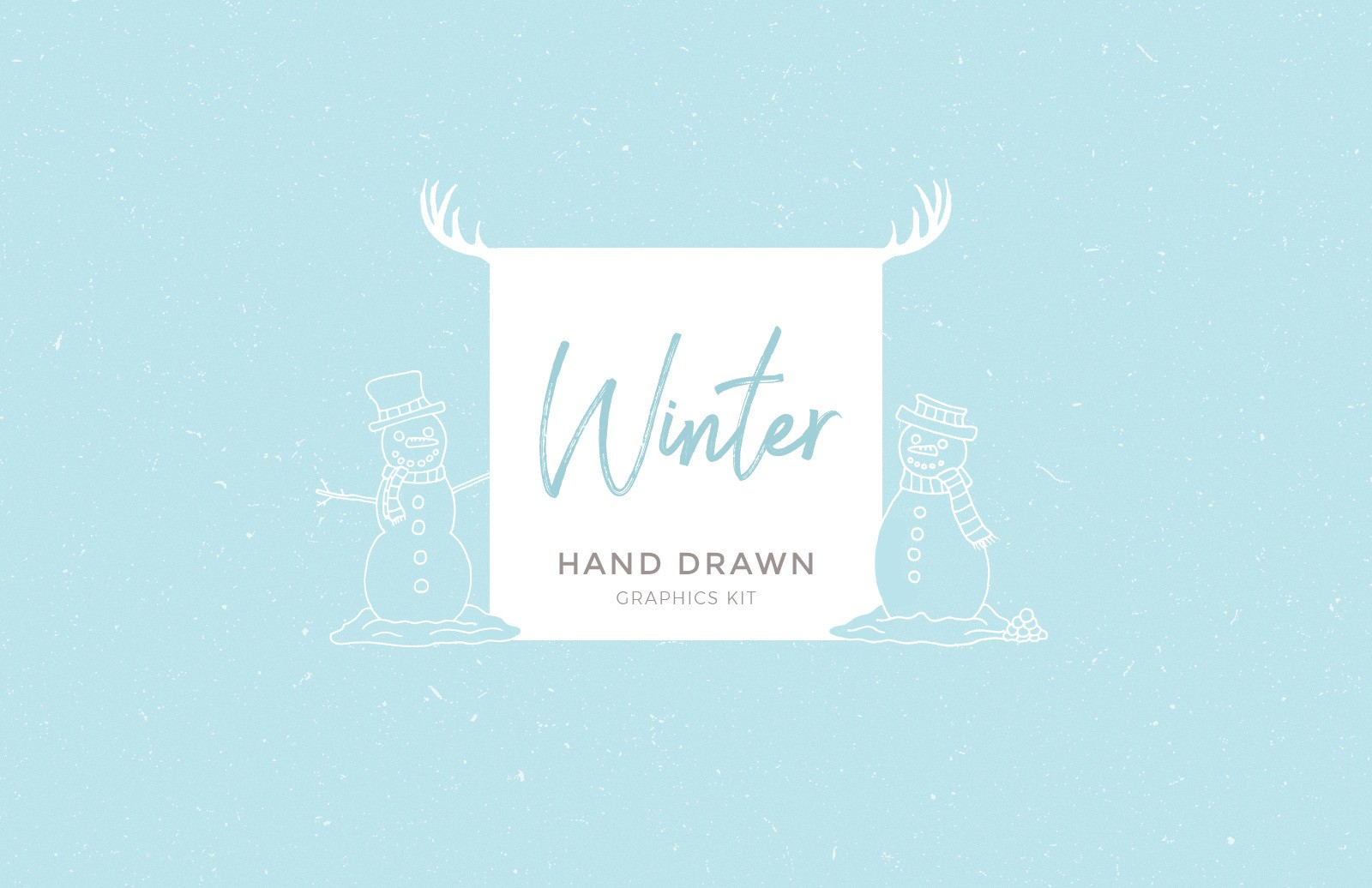 Handdrawn Winter Graphics Preview 1