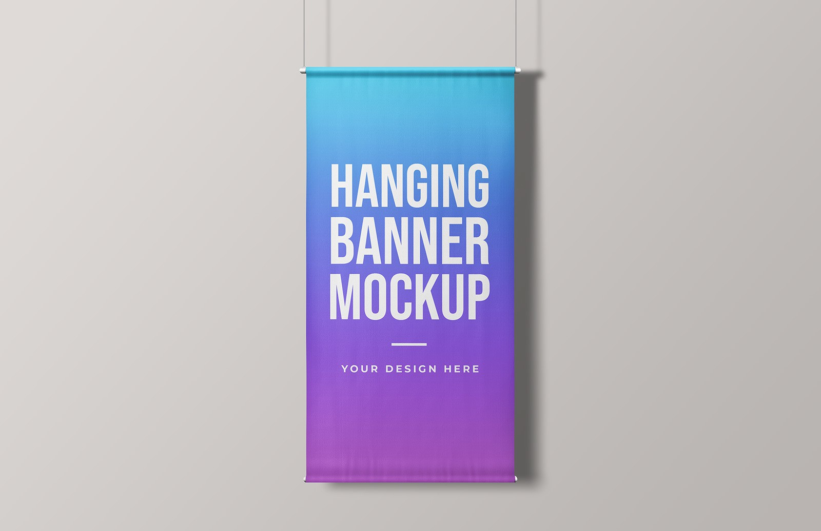 Hanging Banner Mockup Preview 1