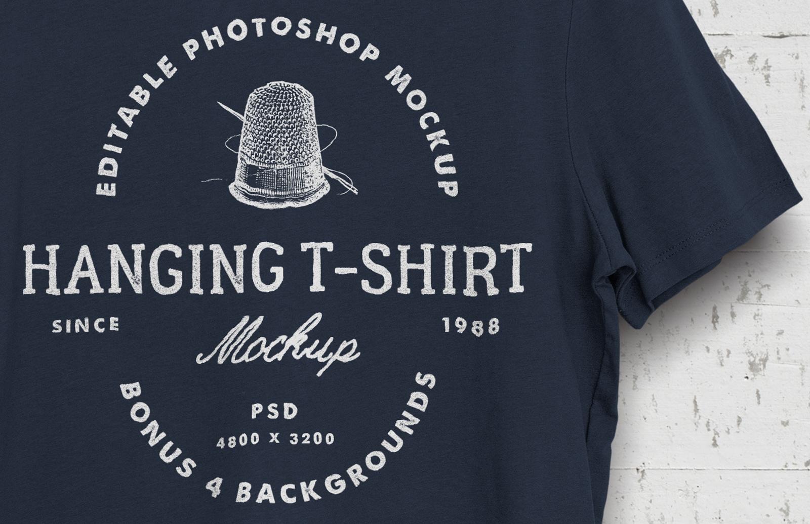 Hanging T-Shirt Mockup 2