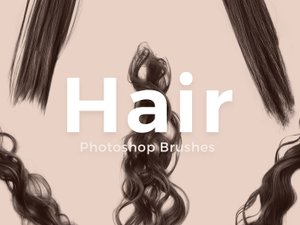 Free Photoshop Hair Brushes 1