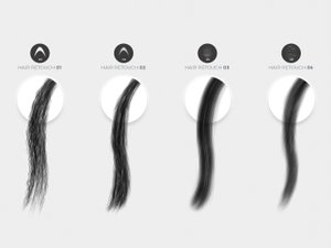 Hair Retouching Brushes 2