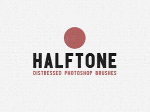 Halftone Distressed Photoshop Brushes 1