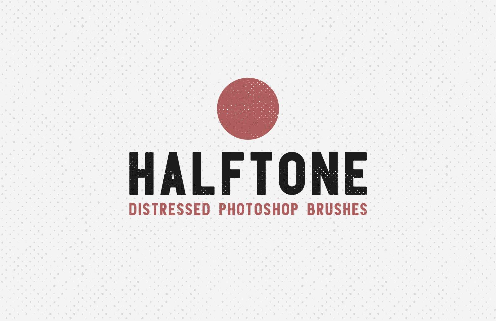 Halftone Distressed Photoshop Brushes Preview 1