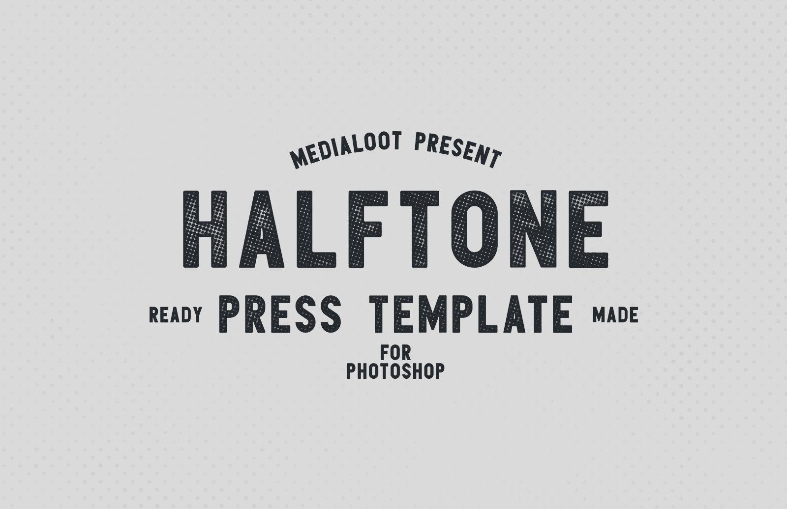 Halftone Press Template Preview 1