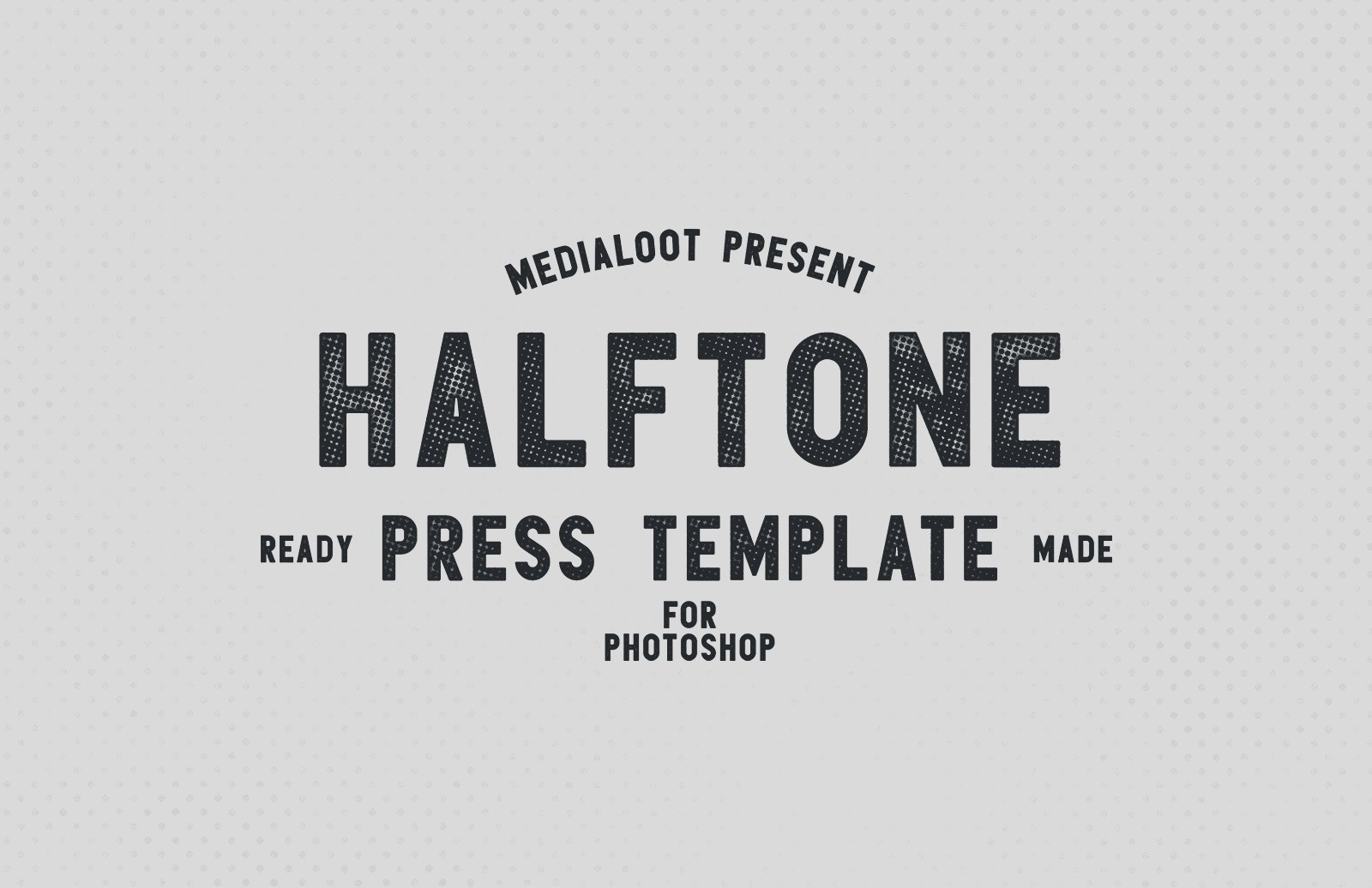 Halftone Press Template Preview 1