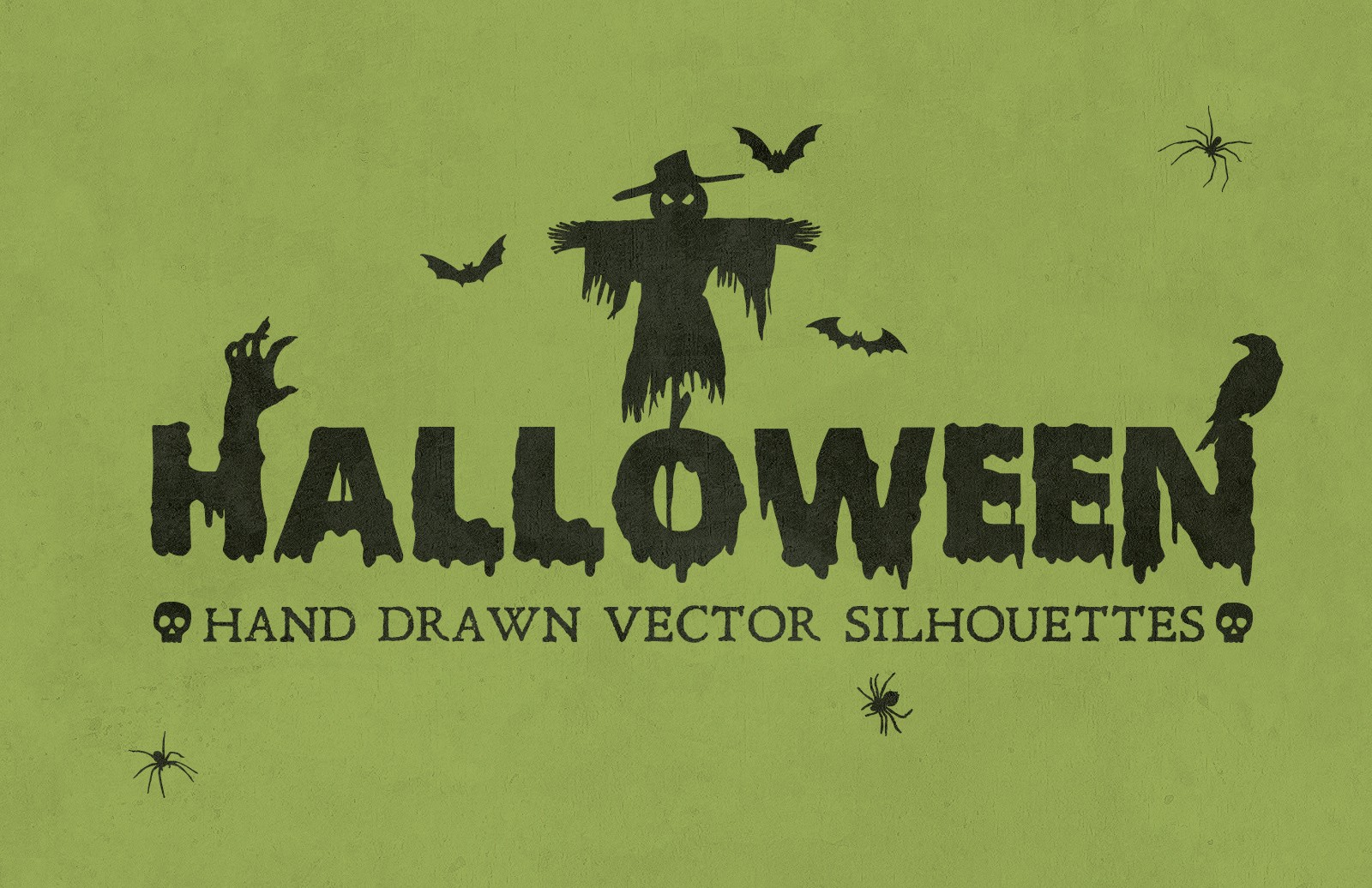 Halloween Hand Drawn Vectors 2 Preview 1B