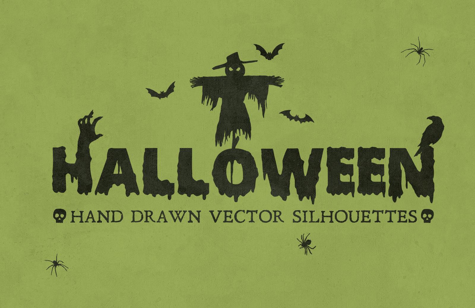 Halloween Hand Drawn Vectors 2 Preview 1B