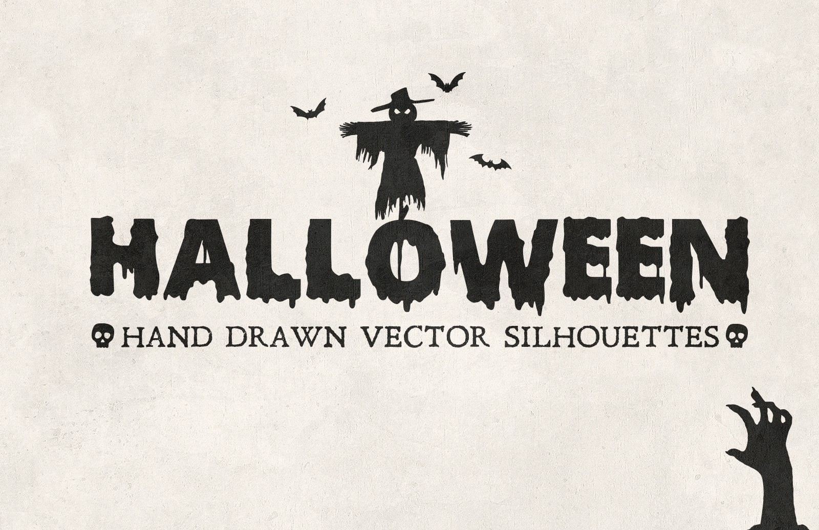 Large Halloween  Hand  Drawn  Vectors  Preview 1A