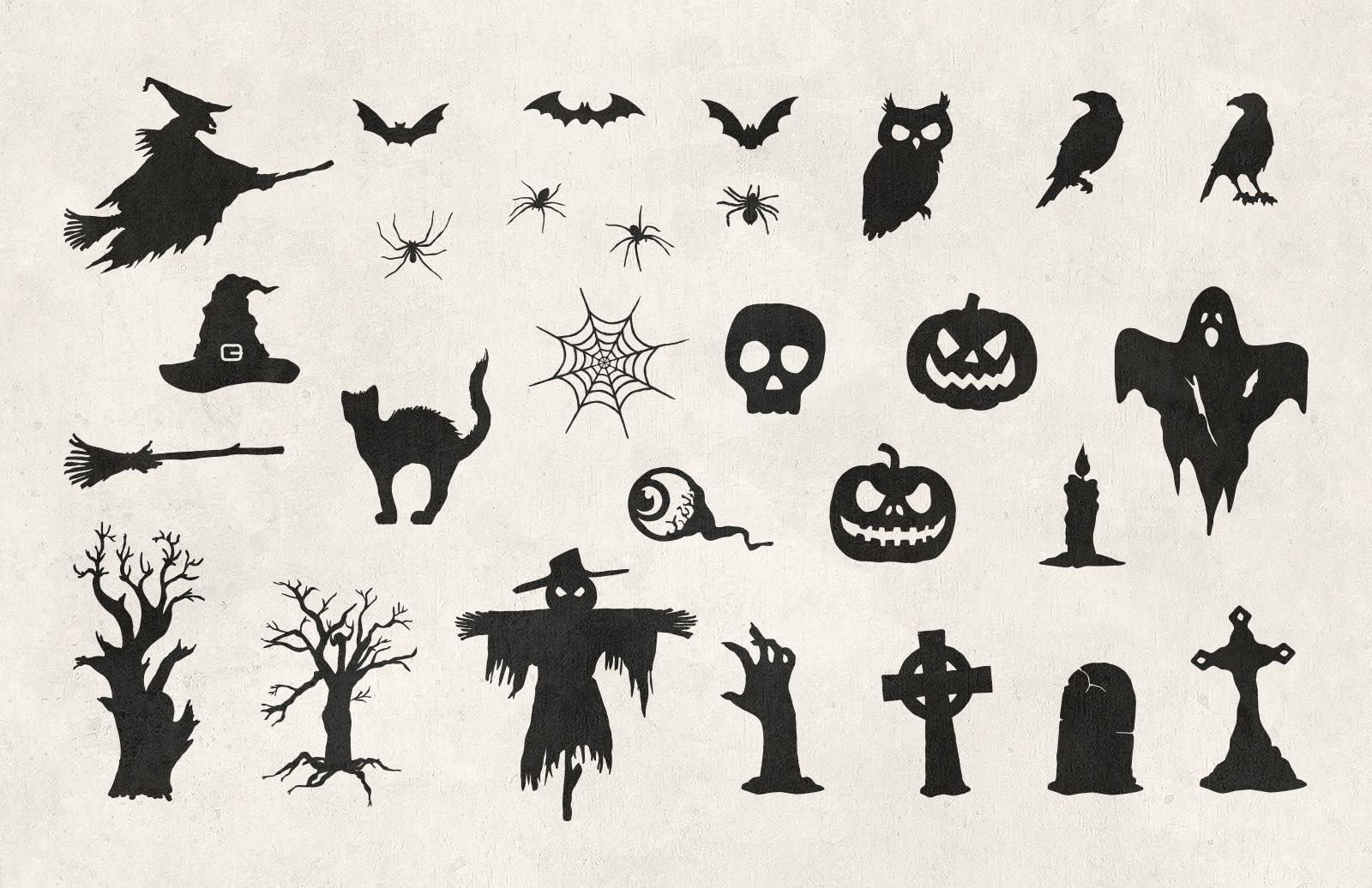Halloween  Hand  Drawn  Vectors  Preview 2