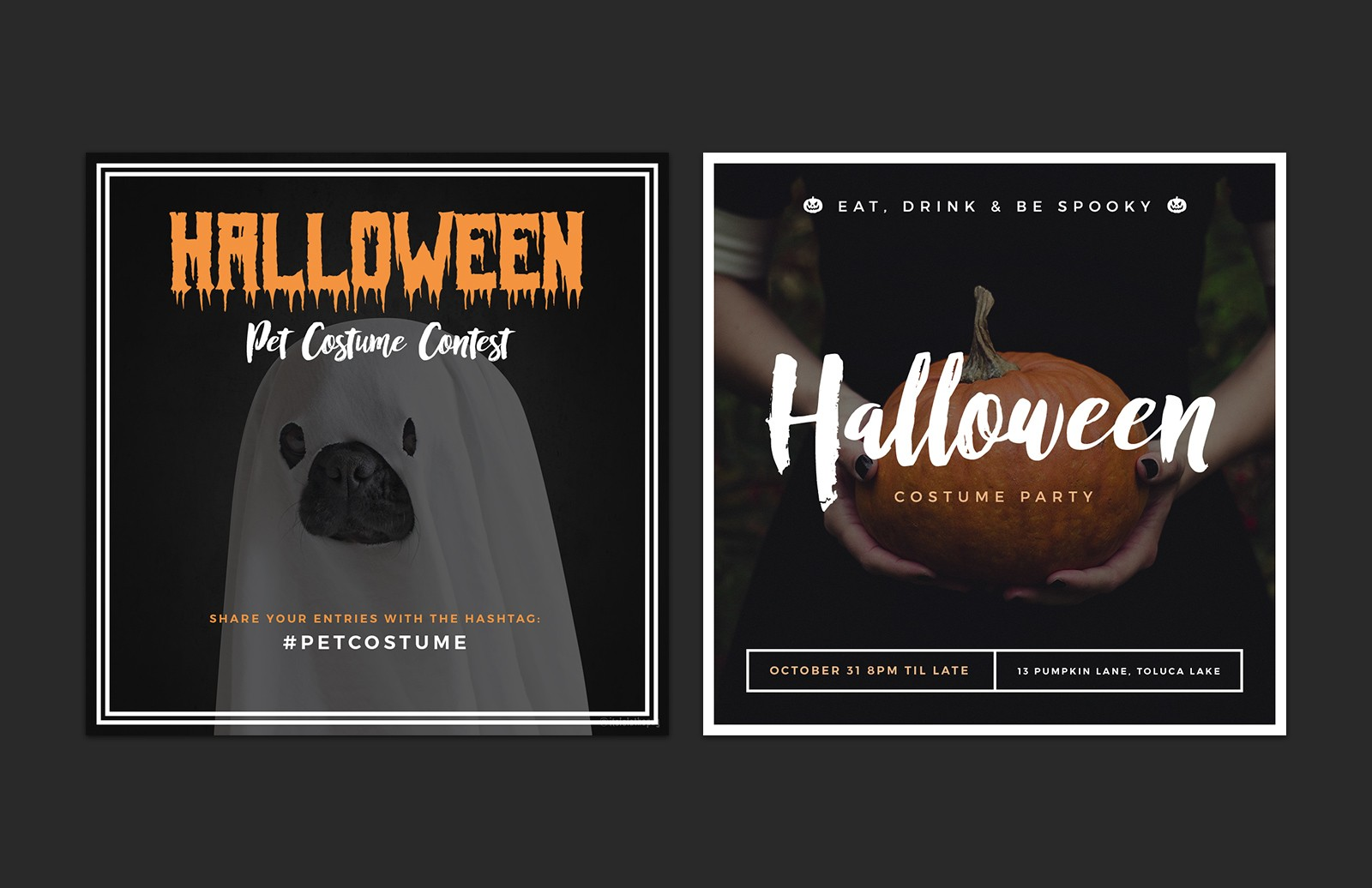 Halloween  Social  Media  Layouts  Preview 5