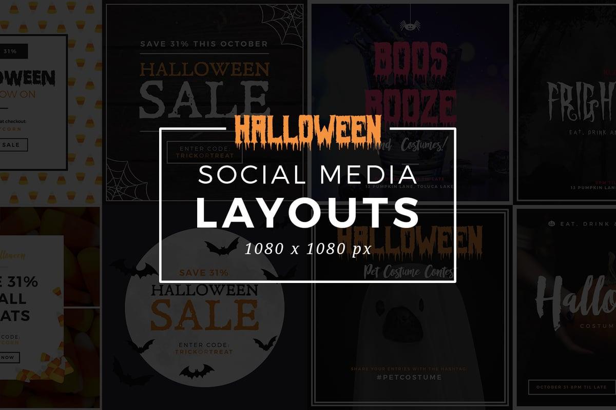 Halloween Social Media Layouts     Medialoot