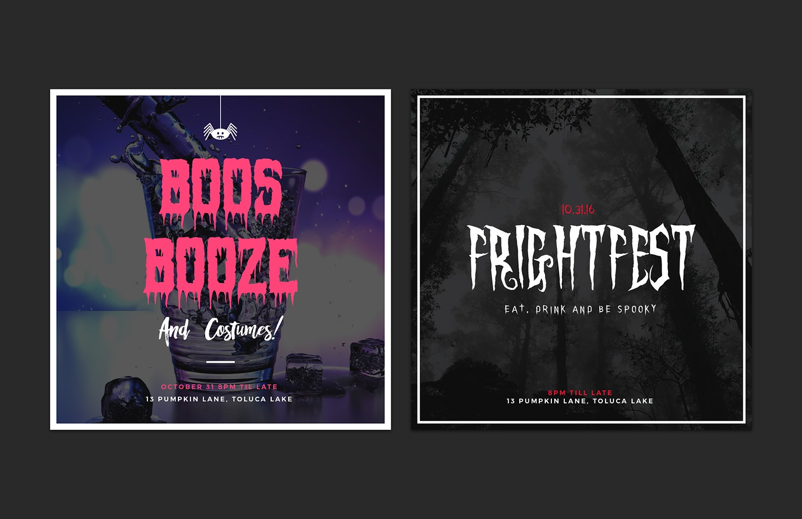 Halloween  Social  Media  Layouts  Preview 3
