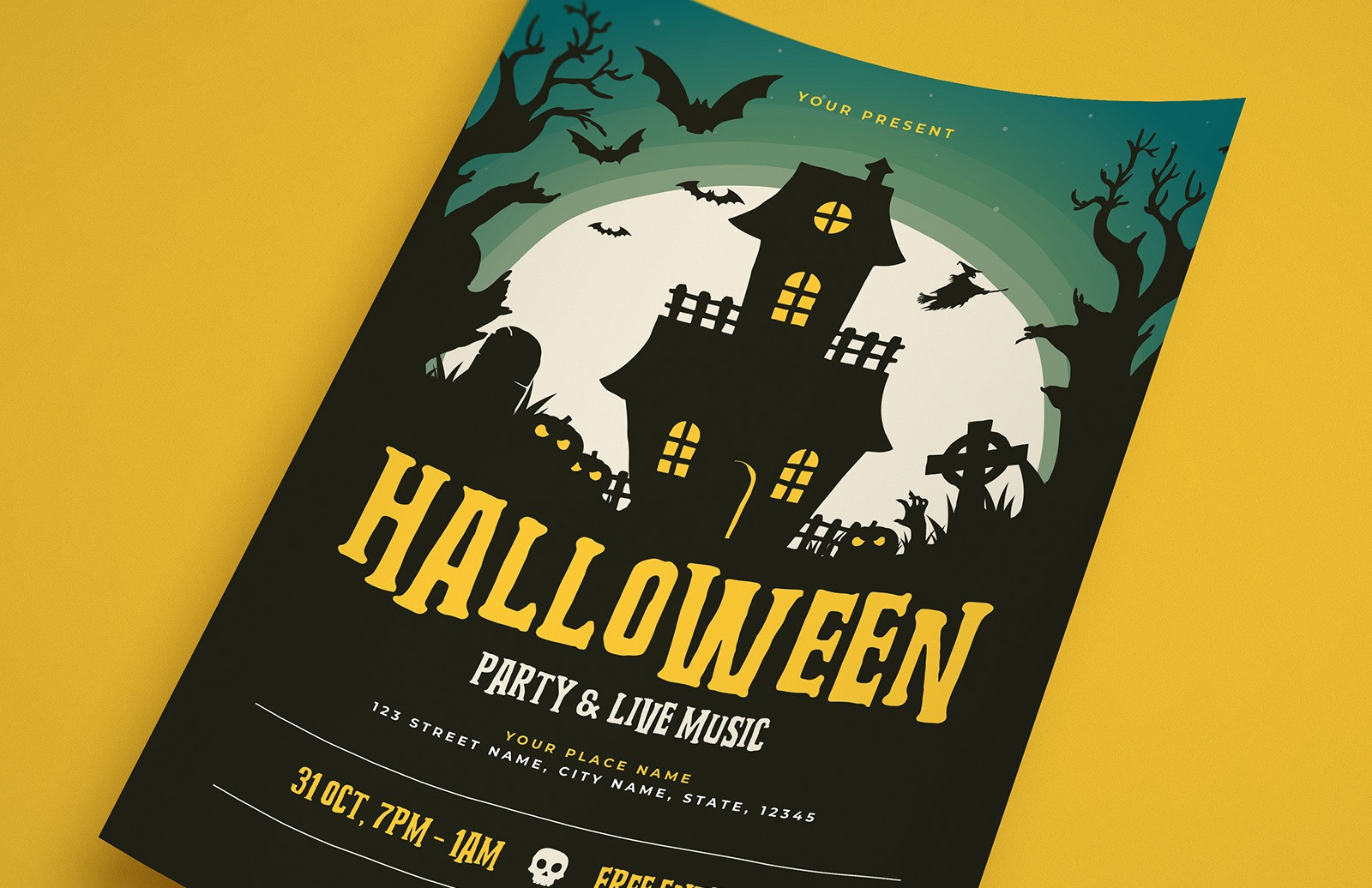 Halloween Party Flyer Template Preview 1A