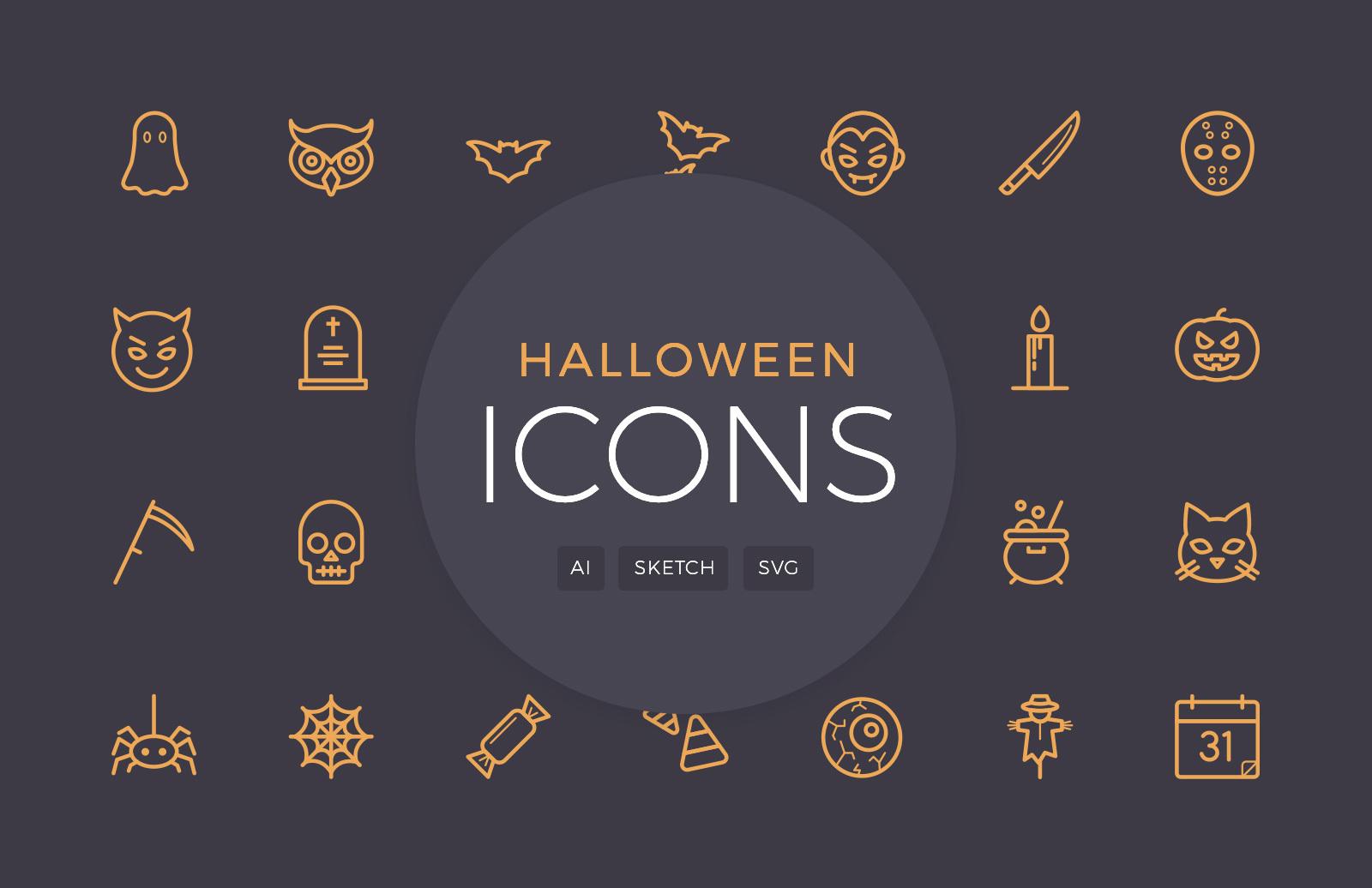Halloween Vector Line Icons