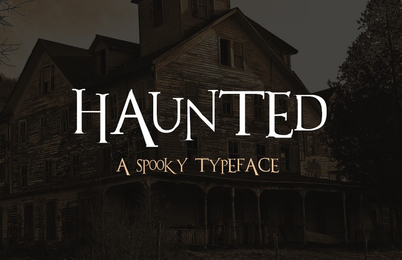 Haunted - Spooky Typeface