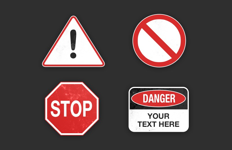 Hazard Warning Signs Pack