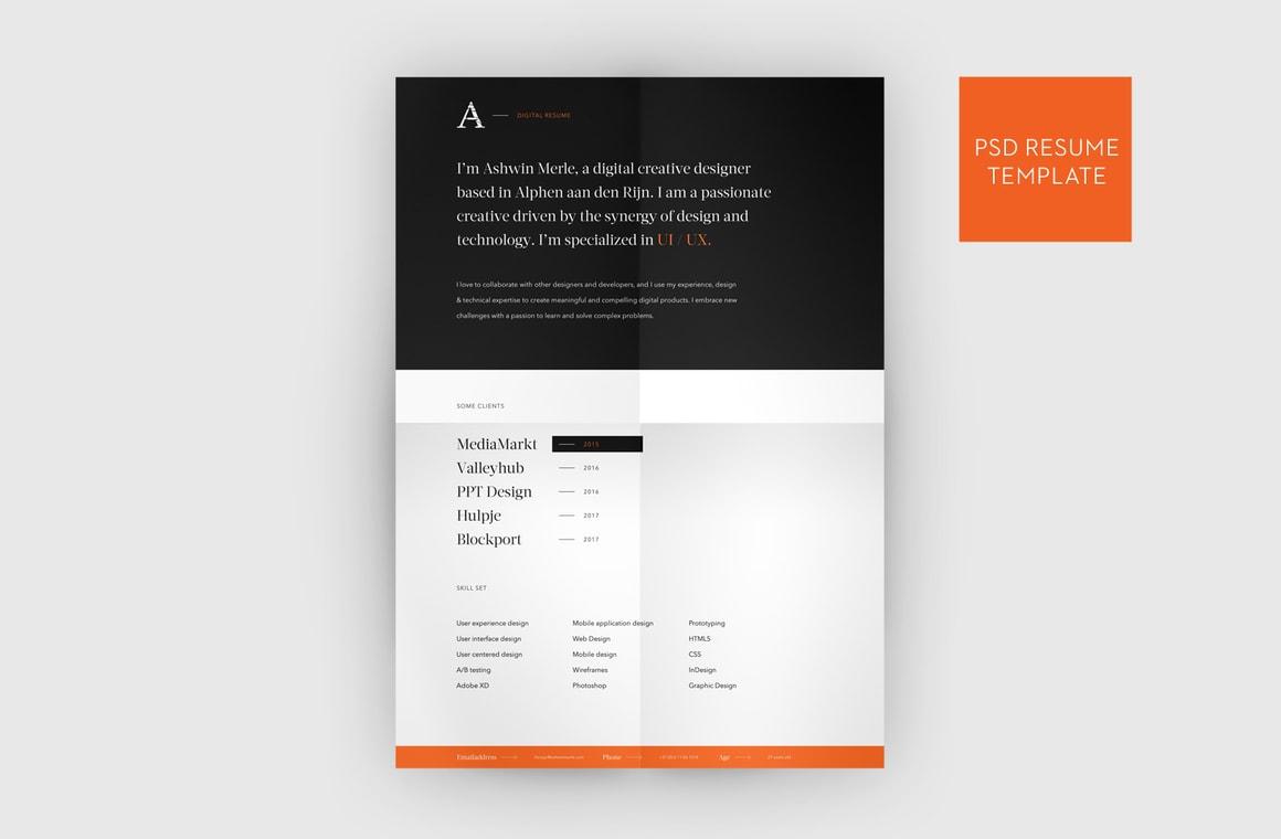 Web Designer Resume Template - WeGraphics
