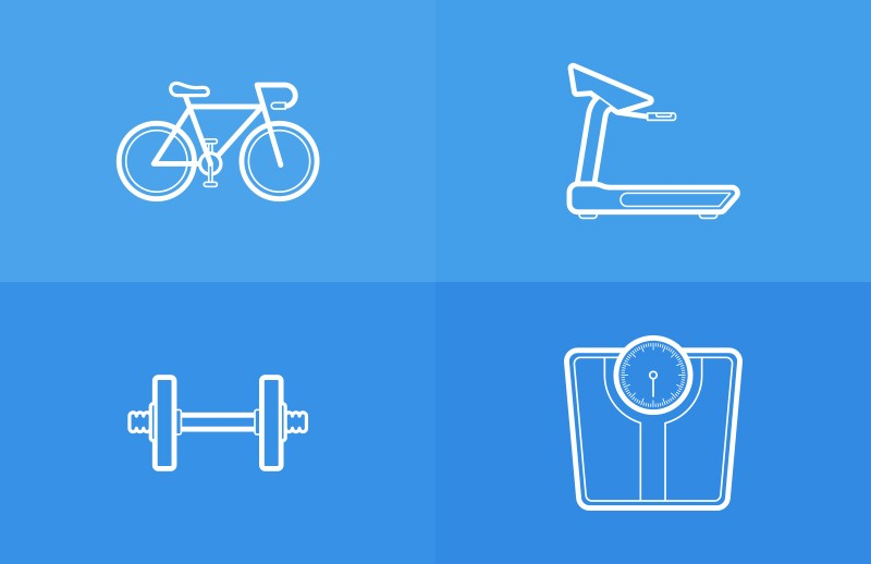 Health   Fitness  Outlined  Vectors  Preview 1