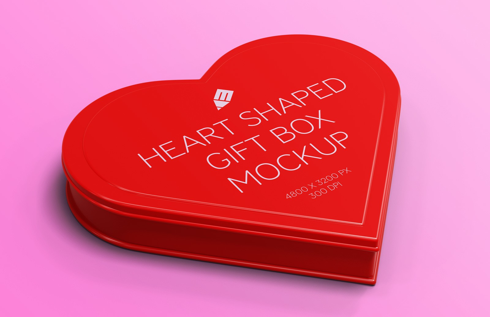 Heart Shaped Gift Box Mockup Preview 1