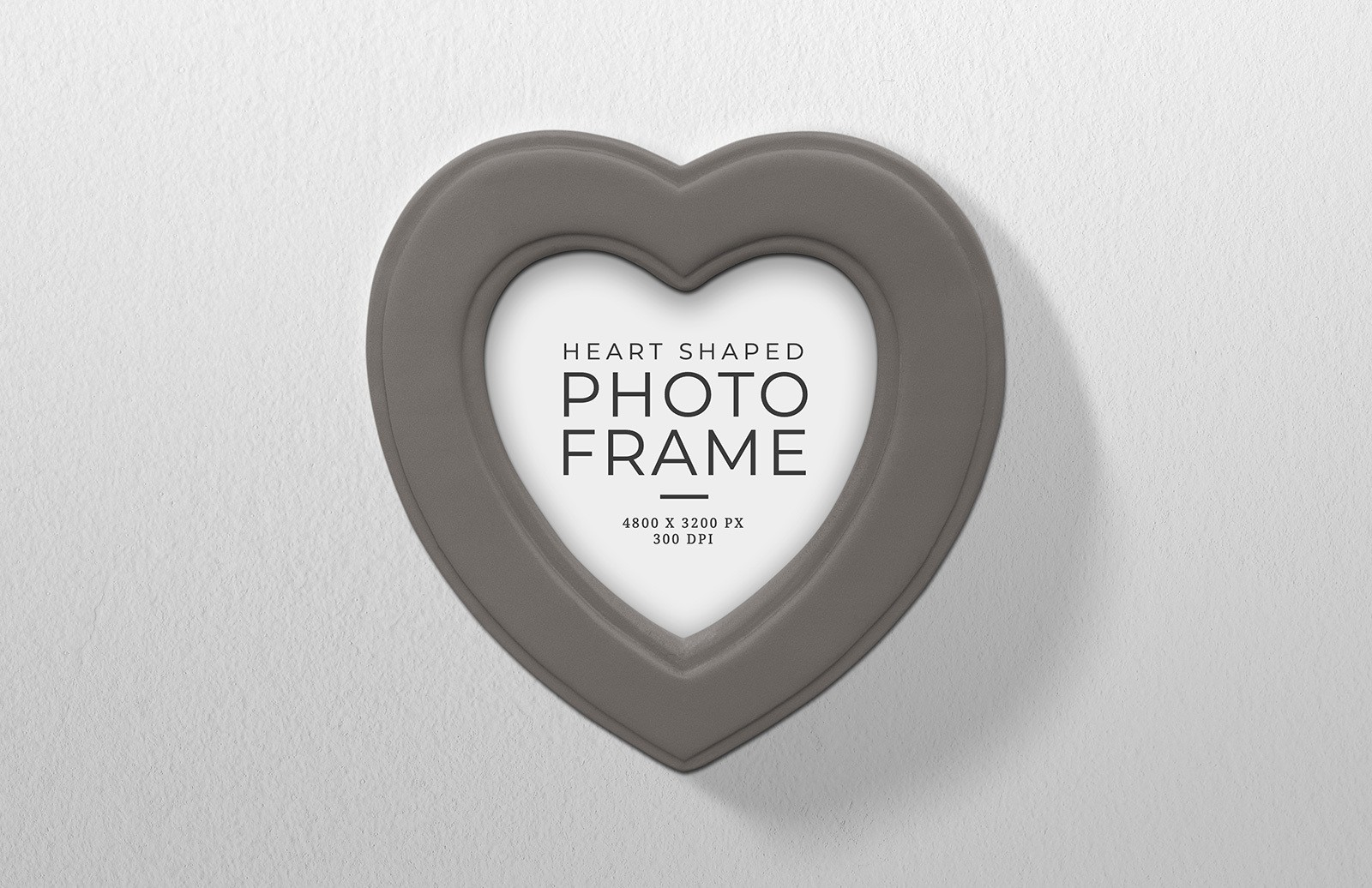 Heart Shaped Photo Frame Mockup Preview 1