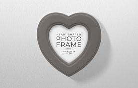 Heart Shaped Photo Frame Mockup