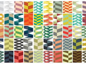 Seamless Vector Herringbone Pattern Swatches 2