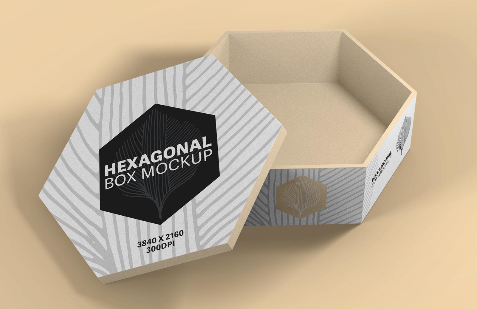 Hexagonal Box Mockup Preview 1