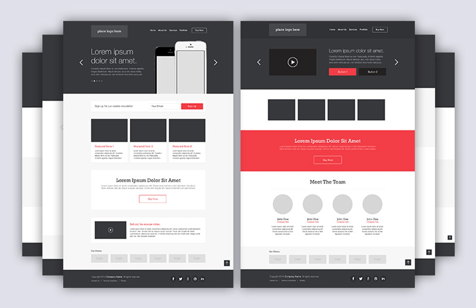 Homepage  Layouts  Pack 2 1