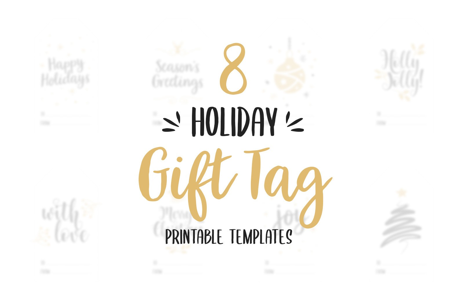 Holiday Gift Tag Templates Preview 1A