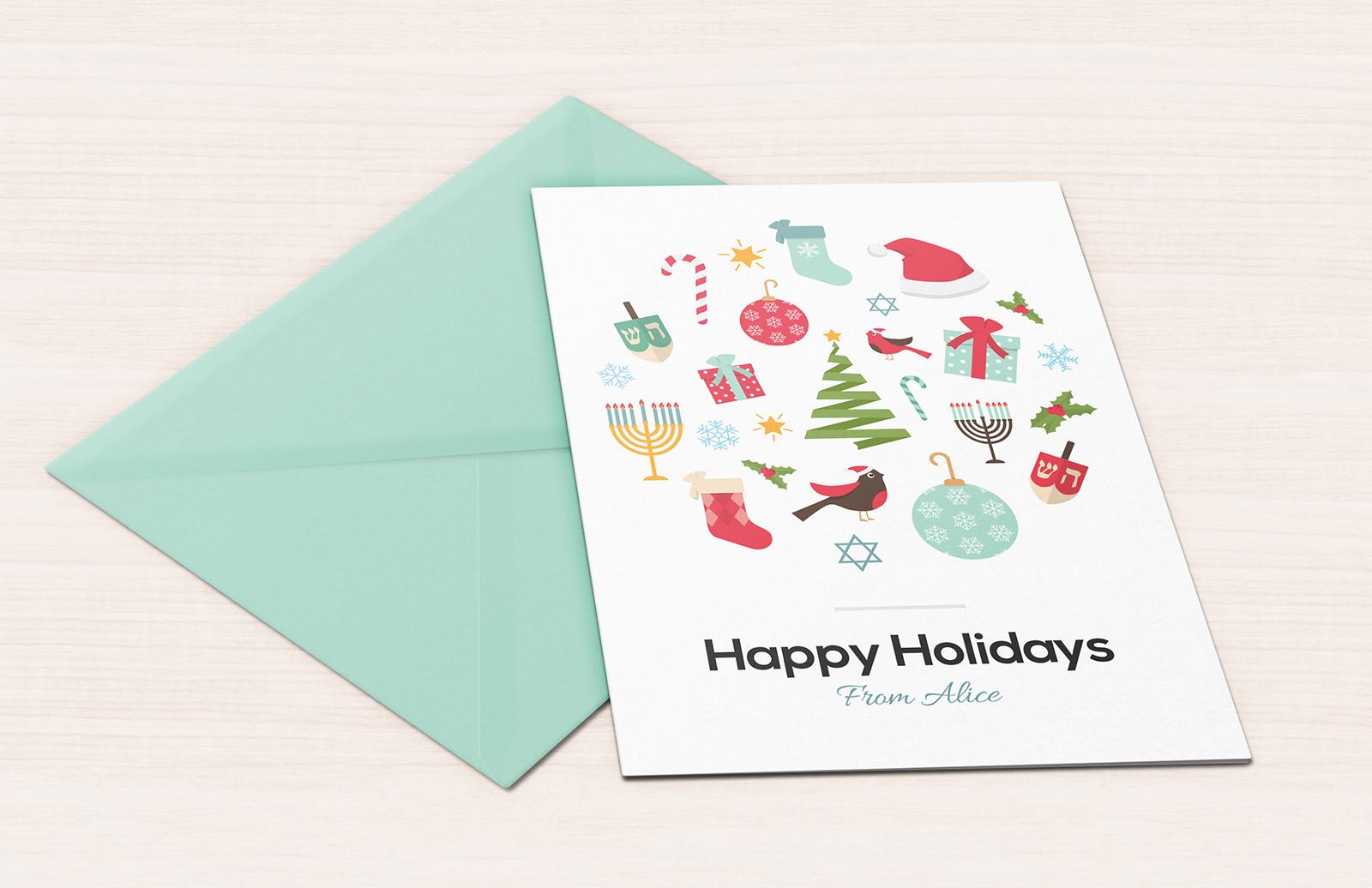 Vector Holiday Greeting Card 1