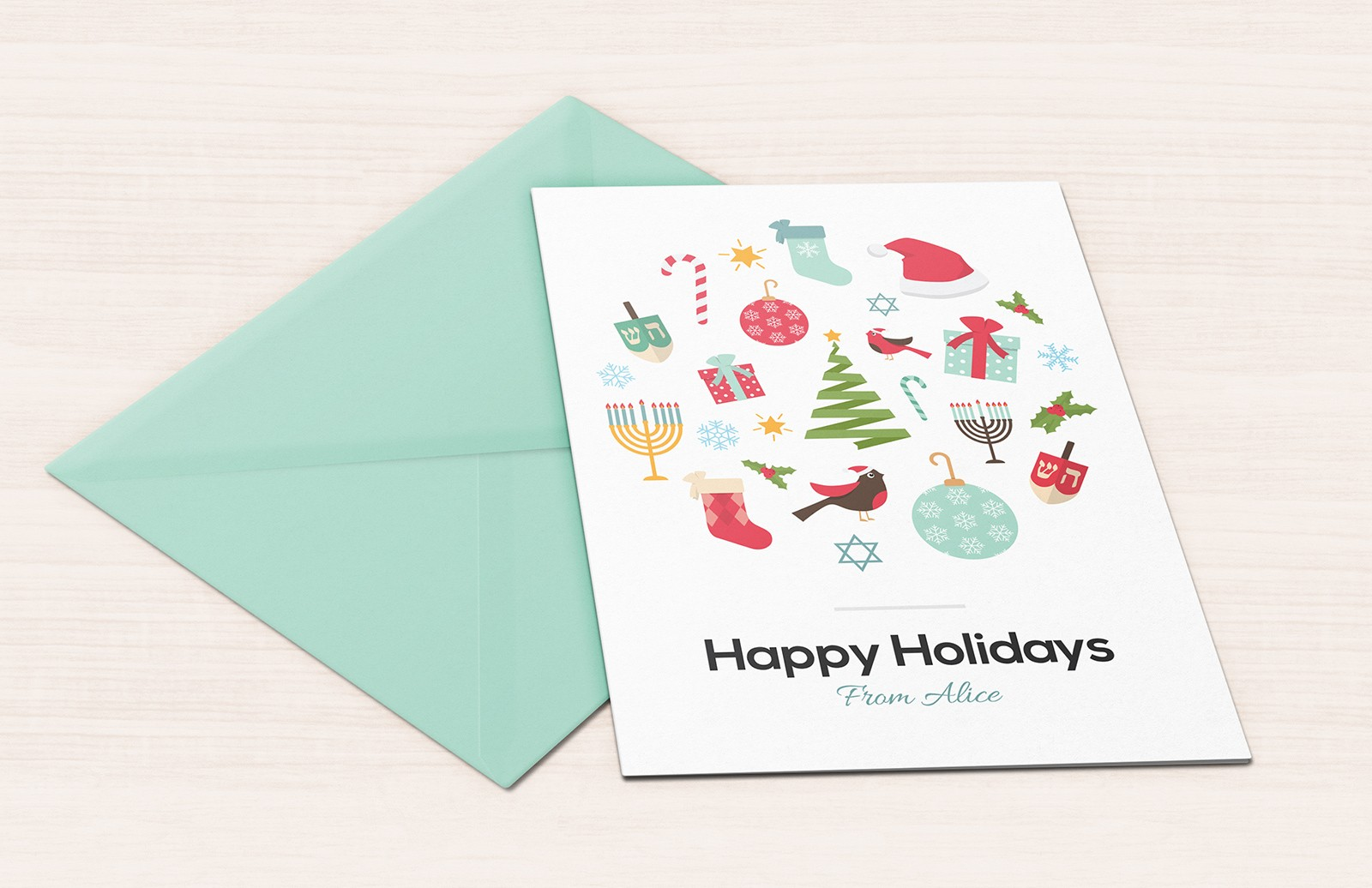 Vector Holiday Greeting Card 1