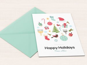 Happy Holidays Greeting Card 1