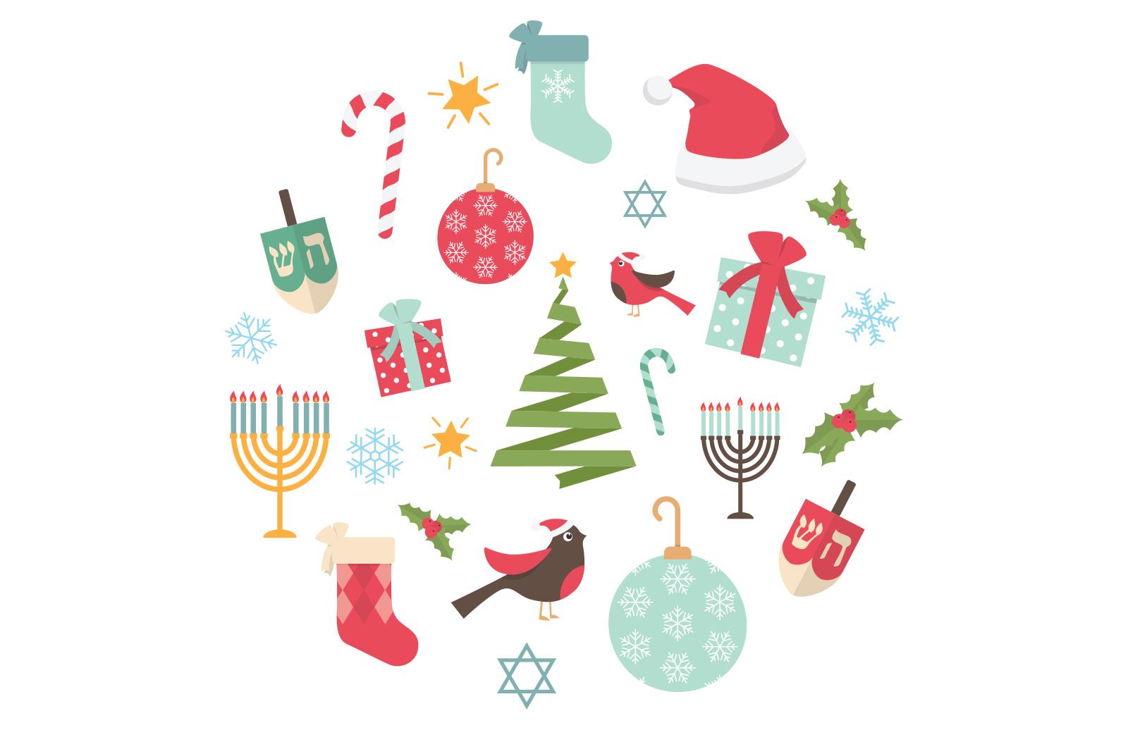 Vector Holiday Greeting Card 2