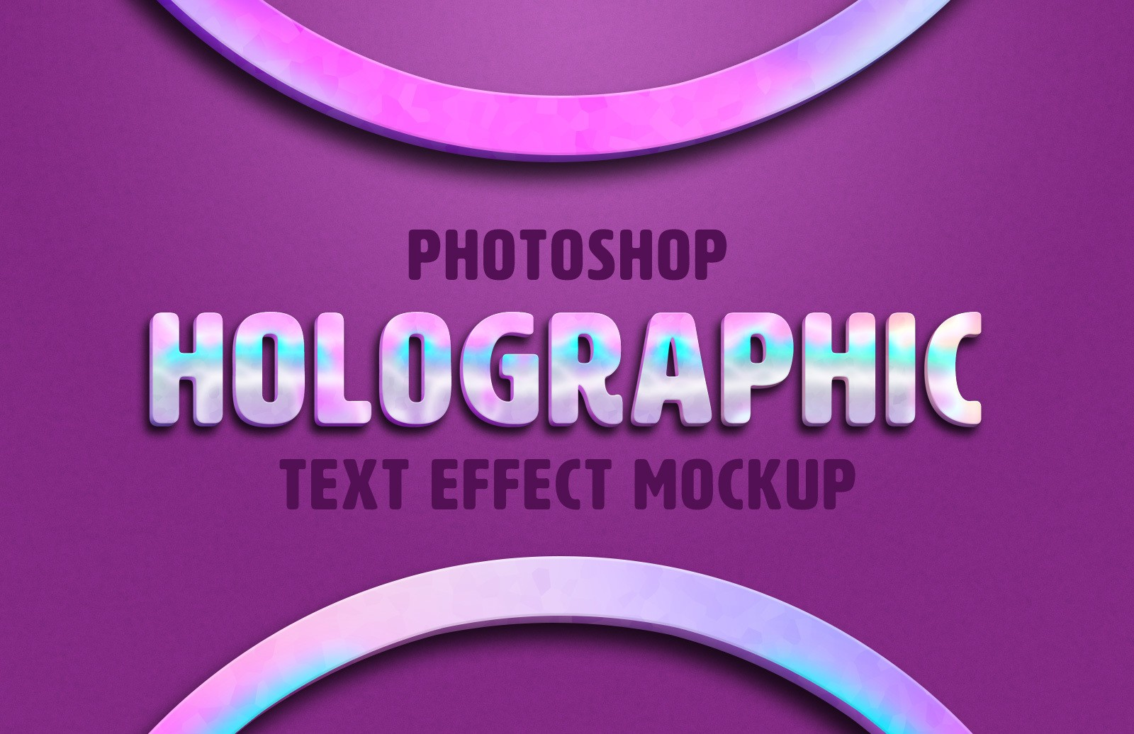 Holographic Text Effect Mockup Preview 1